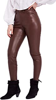 Free People Women's Long & Lean Faux-Leather High-Waist Leggings