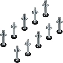 10 x Verstellschraube M8 x 45 mm mit Einschlagmutter Tragkraft: bis 300 kg Möbel-Regulierschraube Justierschraube Verstellfüße Stellfüße Möbelschraube von SO-TECH®