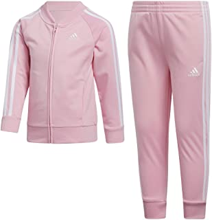 Full Zip Warm-Up Jacket and Jogger Sweatpants Tracksuit Set Body Glove Girls Tricot Jog Set