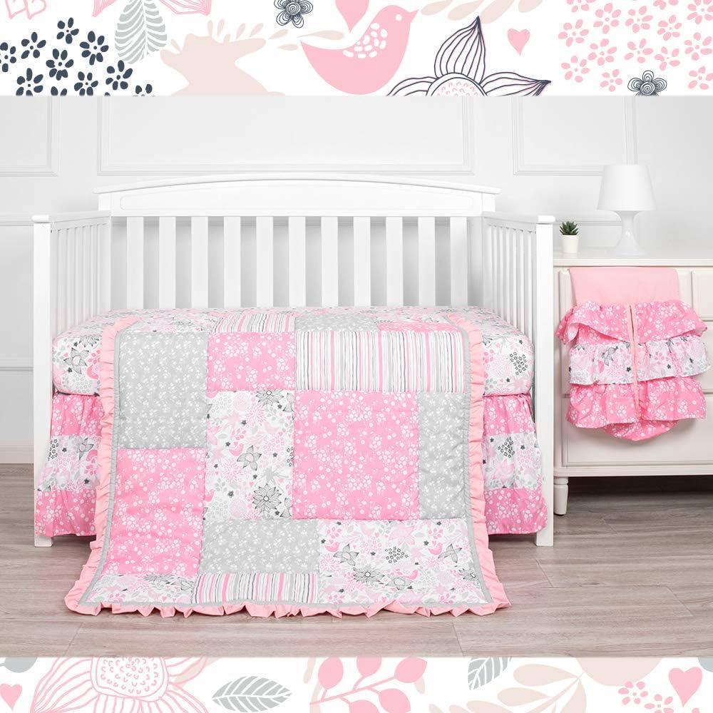 Kiddos 3-Piece Baby Crib Spring new work Ultra-Cheap Deals Bedding Microfib for Set Luxury Girls