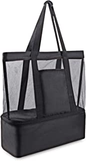 Good Home Living AU Mesh Beach Bag Large Cooler Tote Bag for Picnic Beach and Travel