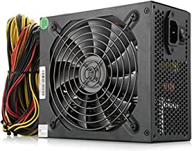 ATX Power Supply 1600w Mining Server Power Supply 1600w Gold PSU Mining 140mm Silent Fan With Mining Machine For 6 GPU Rig Ethereum Bitcoin Miner(160-240v)