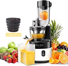 Slow Juicer Machine Extractor with Slow Cold Press Masticating Squeezer Mechanism Technology 200W for Juice and Sorbet Taylor Swoden