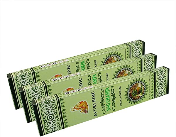 Ayurvedic Fine Quality Hand Rolled Nag Champa Masala Incense Sticks For Purification Relaxation Positivity Healing Happiness Prayers Peace Meditation Positivity Pack Of 3 Boxes 15gms Each