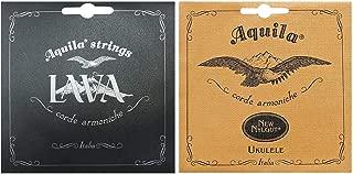 Aquila Lava Series Tenor Ukulele String Set Regular High G Tuning with Aquila 21U Baritone Ukulele Strings Set
