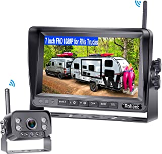 $156 » Rohent R9 HD 1080P RV Wireless Backup Camera with 7 Inch DVR Monitor High-Speed Rear View Observation System for RVs,Truck...