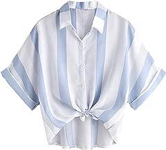 Best striped crop blouse Reviews