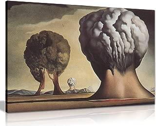 Three Sphinxes of Bikini Salvador Dali Canvas Wall Art Picture Print (36x24in)