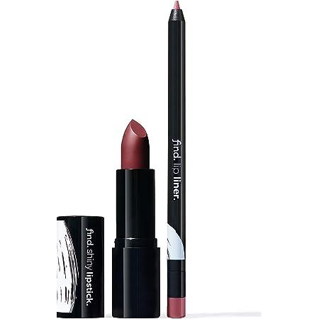 Marca Amazon - find. Flawless Elegance (Barra de labios brillante n.4 + Perfilador de labios n.7)