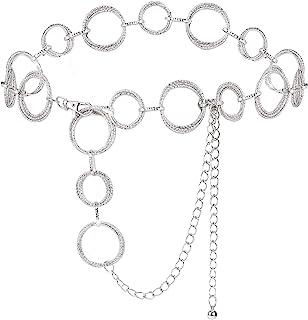 يووي حلقات على شكل O أحزمة حزام الخصر وصلات للنساء سلسلة ربط معدنية هدية