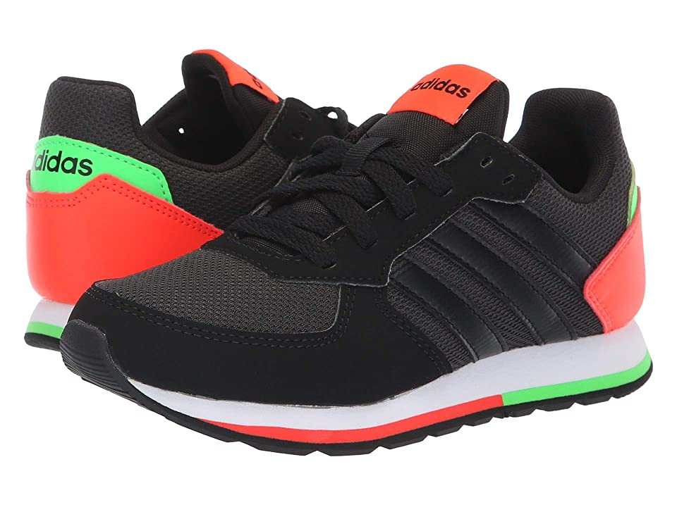 adidas Kids 8K (Little Kid/Big Kid) (Carbon/Black/Solar Red) Kid