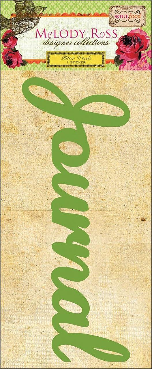 Soul Food Glitter Chipboard Word Sticker-Journal