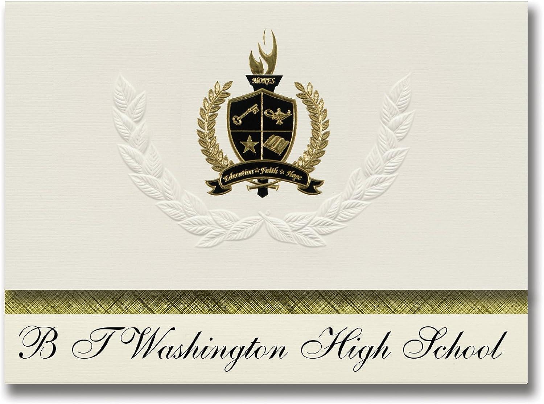 Signature Ankündigungen B T Washington High School (Memphis, TN) Graduation Ankündigungen, Presidential Stil, Elite Paket 25 Stück mit Gold & Schwarz Metallic Folie Dichtung B078VCXWX3   | Export