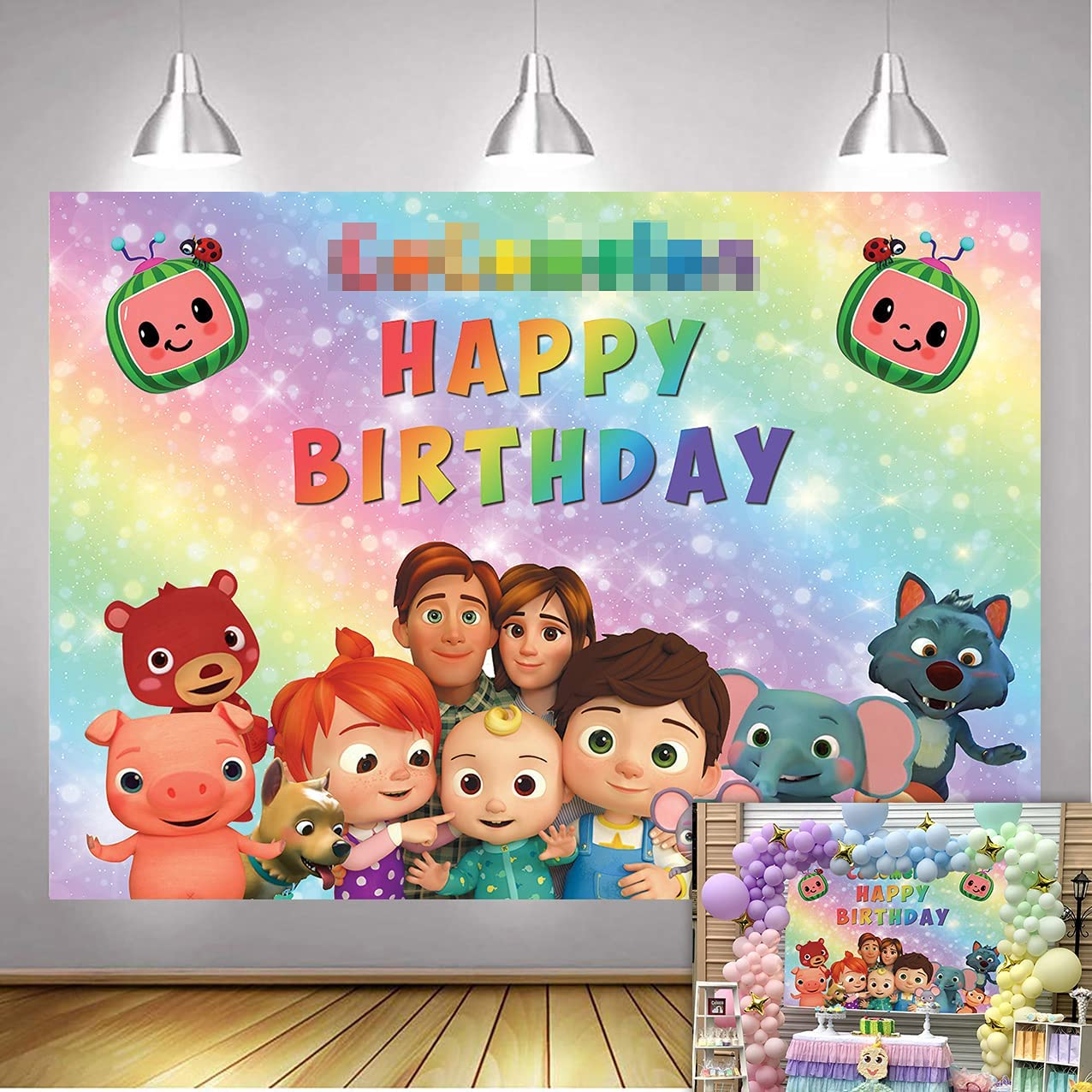 Cheap super special price Betta Sale Special Price Cartoon Cute Melon Backdrop for T Party Birthday Cake Baby