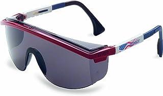 Uvex S1179 Astrospec 3000 Safety Eyewear, Red/White/Blue Frame, Gray Ultra-Dura Hardcoat Lens