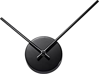 TiiM New Modern Design Abstract 3D Wall Clock - Fully Assembled - Quiet Movement - Great As A DIY Hands Clock or with Wall Art (Black)