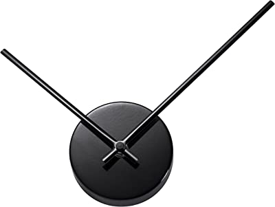 TiiM New Modern Design Abstract 3D Wall Clock - Fully Assembled - Quiet Movement - Great
