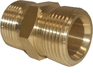 M22 14mm to M22 15mm Adapter, Hose to Hose Coupler for Power Pressure Washer - Connects Two Hoses