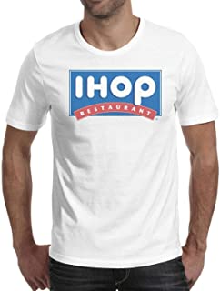 RFRCDRW Men ihop Logo Short Sleeve T Shirts 100% Cotton Casual Hygroscopic Shirt