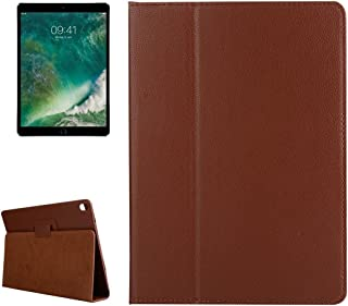 LFPING for iPad Pro 10.5 inch Litchi Texture 2-fold Horizontal Flip Leather Case with Holder for iPad Pro 10.5 inch (Color : Brown)