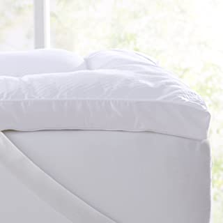 """Extra Thick Hypoallergenic Mattress Topper. Breathable Down Alternative Featherbed. 2-Inch Thick Mattress Pad. Fits Mattresses up to 18"""" Deep (Twin)"""