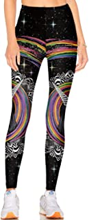 Women's Best Printed Leggings Yoga Workout Stretchy Tights Pants