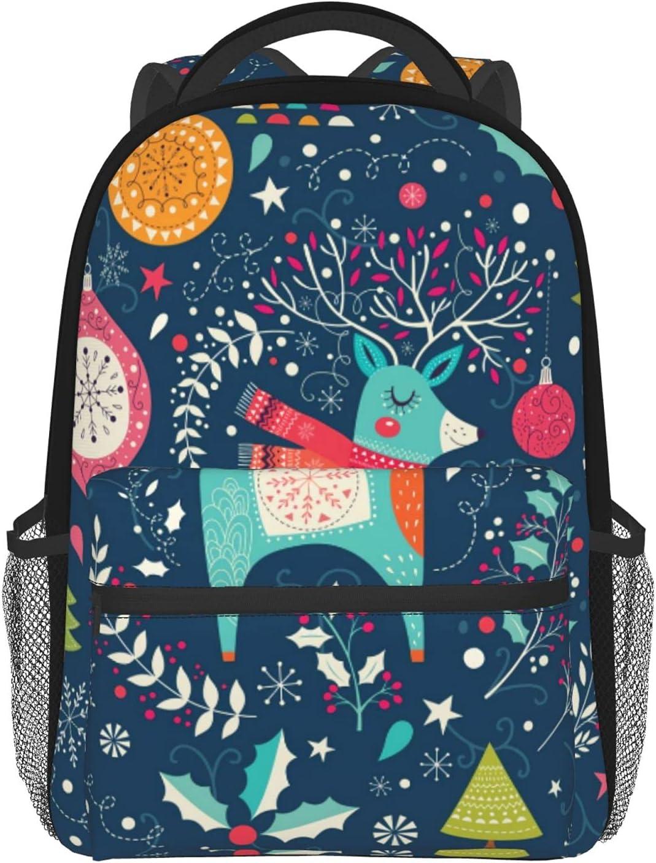 Over item handling Christmas Deer Pattern School Backpacks Mini Lightweight 2021new shipping free Bookbag