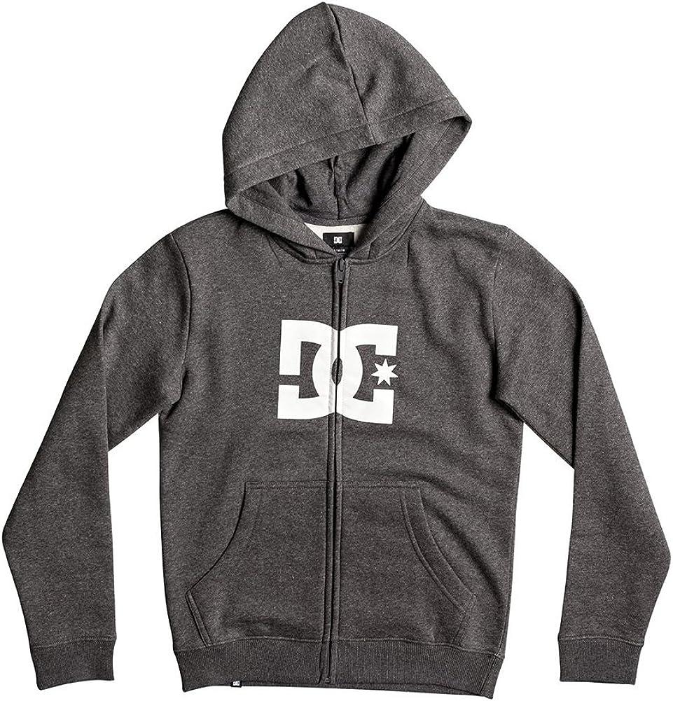 DC Big Boys' Star Zip Fleece Hoody - Charcoal Heather