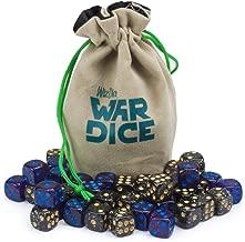 Wiz Dice Set of 40 12mm War Dice, Galactic Conquest (Glitter Purple and Glitter Black)