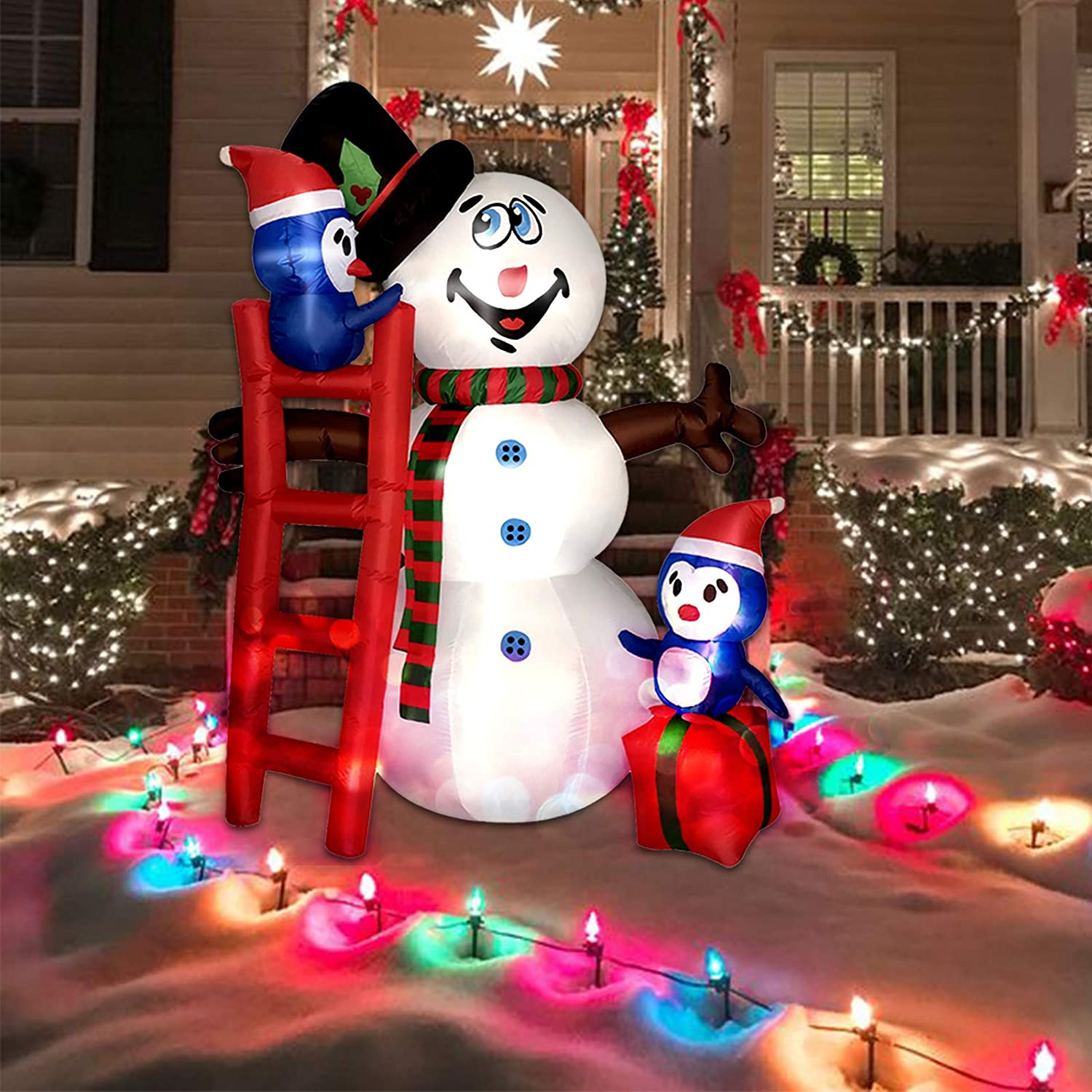Kyerivs NEW before selling ☆ 6 FT Christmas Inflatables Max 62% OFF Blow Outdoor S Up Decorations