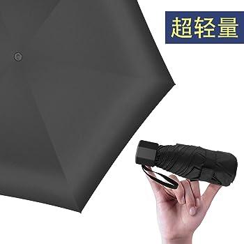 超軽量(208g) 折りたたみ 日傘 100% 完全遮光 UVカット率99% 折りたたみ傘 超耐風撥水 晴雨両用 ミニ傘 携帯便利 男女兼用2019 (ブラック)