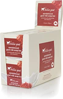 Billie Goat Sandalwood Everyday Soap Bar 12 Pack, Sandalwood, 1 count