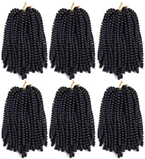 6 Pack Spring Twist Crochet Hair Braiding Bomb Twist Ombre Colors Low Temperature..