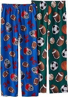 Up-Late Boys Red /& Blue Fleece Sleepwear Football Themed Pajama Set