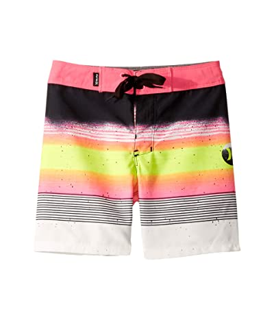 Hurley Kids Overspray Boardshorts (Toddler/Little Kids) (Black) Boy