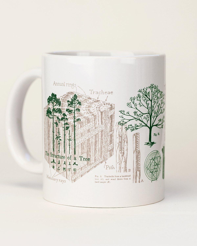 Cognitive Surplus Trees Ceramic Mug, Forest, Green & Brown