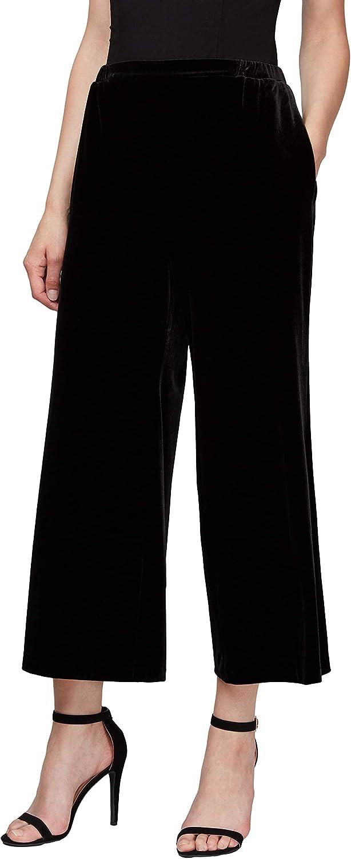 Alex Evenings Women's Cropped Wide Leg Dress Pant (Petite Regular Plus Sizes)