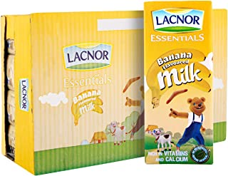 Lacnor Banana Milk - Pack of 32 Pieces (32 x 180 ml)