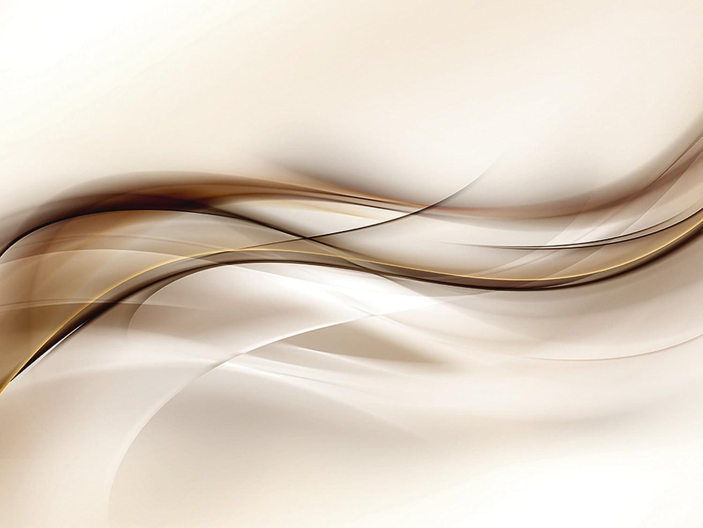 Artland Qualitätsbilder I Glasbilder Deko Glas Bilder 60 x 45 cm Abstrakte Motive Muster Streifen Digitale Kunst Braun D3HQ Welle Design Hintergrund B078JLRJCQ