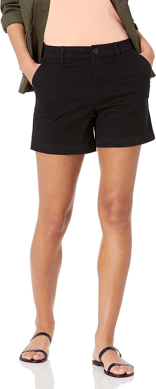 Amazon Essentials Women's Curvy Fit 5 Inch Inseam Chino Short