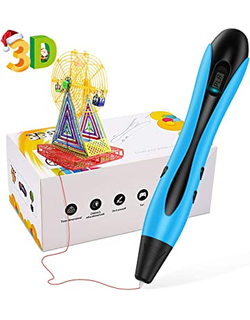 ERAY 3D Printer Pen with 12 Colors 118 Feet PLA Filaments 3D Drawing Pen Best Birthday Holiday Gifts for Kids /& Adults Blue 3D Printing Pen