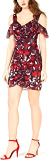 GUESS Women's Tess Chiffon Ruffle Dress