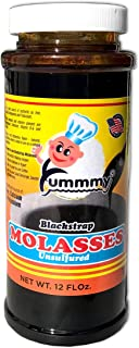 Blackstrap Molasses Yummmy 12 FL oz., Kosher Certified, BPA free container, Unsulfured, Brix 84% sold by weight, All Natural