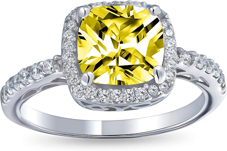 4,00 karat Kissen Diamant Solitär Verlobung Ring Weißes Gold Finish Gr 54
