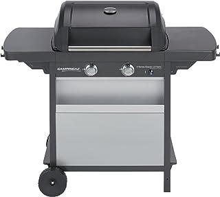 Campingaz Barbecue à Gaz Class 2 LX Vario, 2 Brûleurs, Puissance 7.5kW, Grille et Plancha en Acier Double Emaillage, 2 Tab...