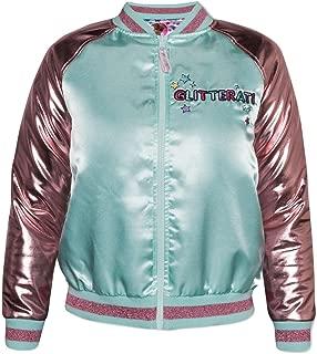Lol Surprise Bomber Jacket for Girls Doll Fashion Coat Lightweight Pink Shimmer (Medium 7-8)