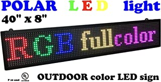 Outdoor LED Sign with SMD Technology RGB Color Size 40