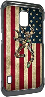 Browning Deer Camo American Flag for Samsung Galaxy S5 Active Case(Black Hard Plastic)