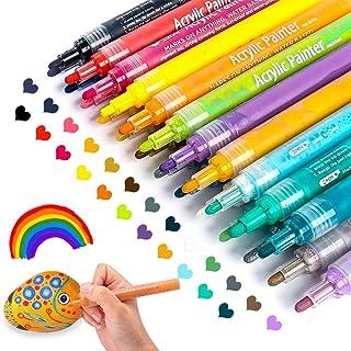Acrylic Paint Marker Pens, Paint Pens for Rocks Painting, Wood, Fabric, Plastic, Canvas,..