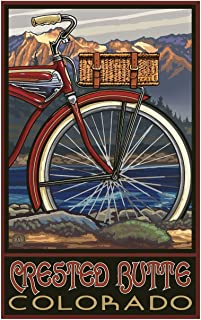 Crested Butte Colorado Fat Tire Bike Travel Art Print Poster Paul A. Lanquist (30
